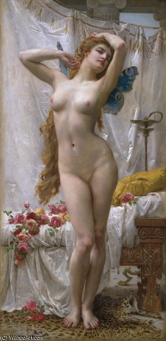 the awakening of Psyche by Guillaume Seignac (1870-1924, France) | Museum Quality Reproductions | ArtsDot.com