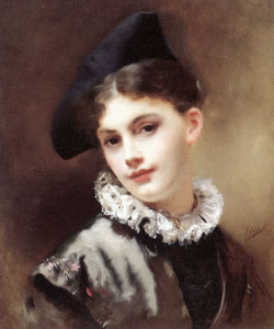 Gustave Jean Jacquet - A coquettish smile