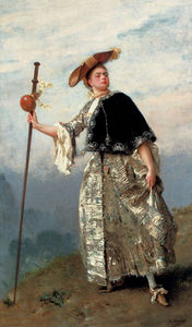 Gustave Jean Jacquet - On the hilltop