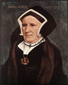 Hans Holbein The Younger - Portrait of Lady Margaret Butts