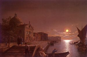 Henry Pether - Moonlight in venice