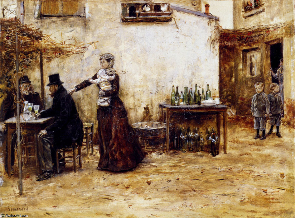 Les habiitues de cafe by Jean-François Raffaelli (1850-1924, France) | Art Reproduction | ArtsDot.com