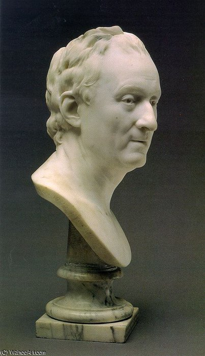 Bust of Denis Diderot by Jean Antoine Houdon (1741-1828, France)