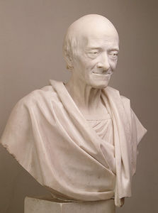 Jean Antoine Houdon - Portrait of Voltaire in a..