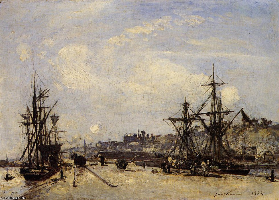 Honfleur the Railroad Dock by Johan Barthold Jongkind (1819-1891, Netherlands)