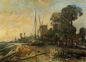 Johan Barthold Jongkind - Windmill near the Water