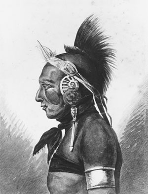 An osage warrior by Pavel Petrovich Svinin (1787-1839, Russia) | Museum Art Reproductions | ArtsDot.com