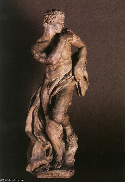 The faun terracotta by Pierre Puget (1620-1694, France)