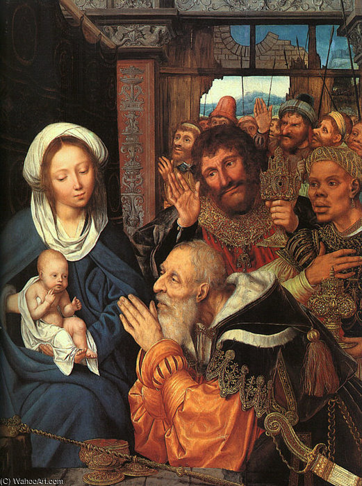 Order Oil Painting : Adoration of the Magi by Quentin Massys (1466-1530, Belgium) | ArtsDot.com