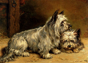 Ralph Hedley - Two terriers