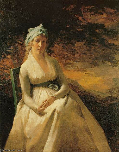 Portrait of Mrs. Andrew by Henry Raeburn (1756-1823, United Kingdom) | Museum Art Reproductions | ArtsDot.com