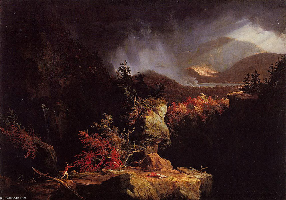 Gelyna (View near Ticonderoga) by Thomas Cole (1801-1848, United Kingdom)