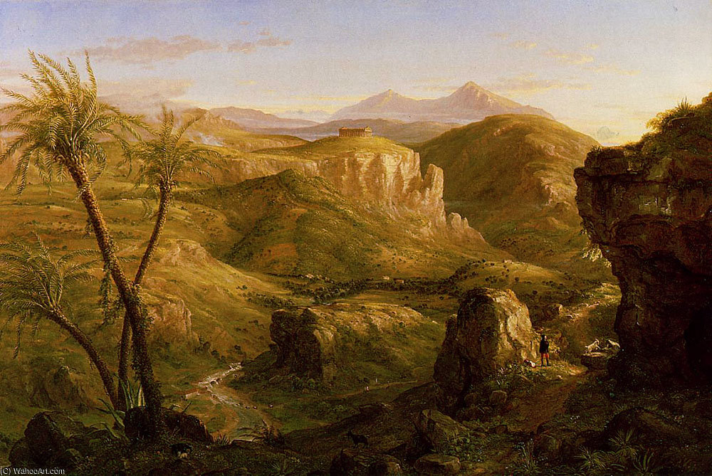 The Vale and Temple of Segesta Sicily by Thomas Cole (1801-1848, United Kingdom)