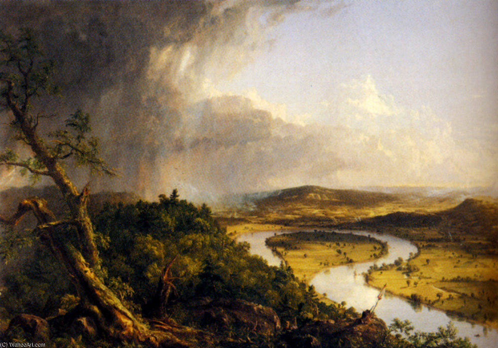 view From Mount Holyoke Northampton Massachusetts by Thomas Cole (1801-1848, United Kingdom)