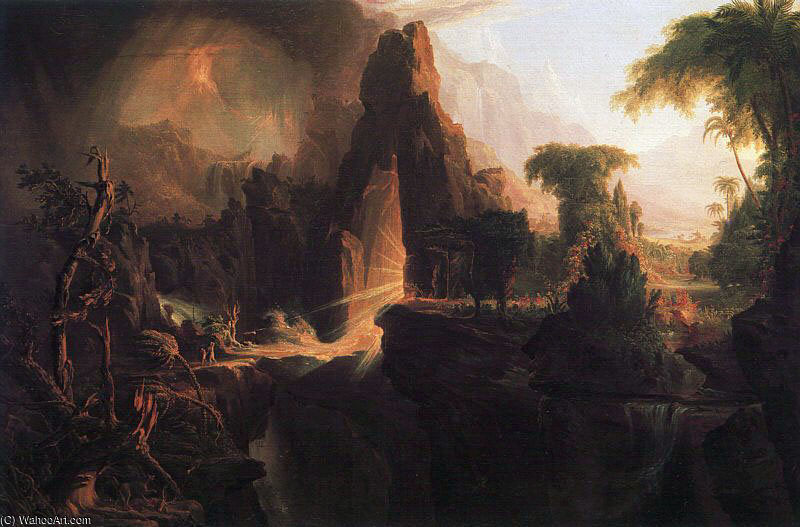 Expulsion from the Garden of Eden by Thomas Cole (1801-1848, United Kingdom)