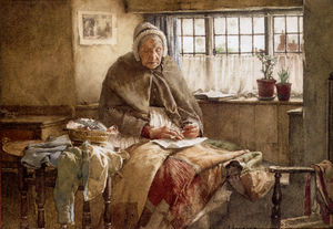 Walter Langley - At evening time it shall ..