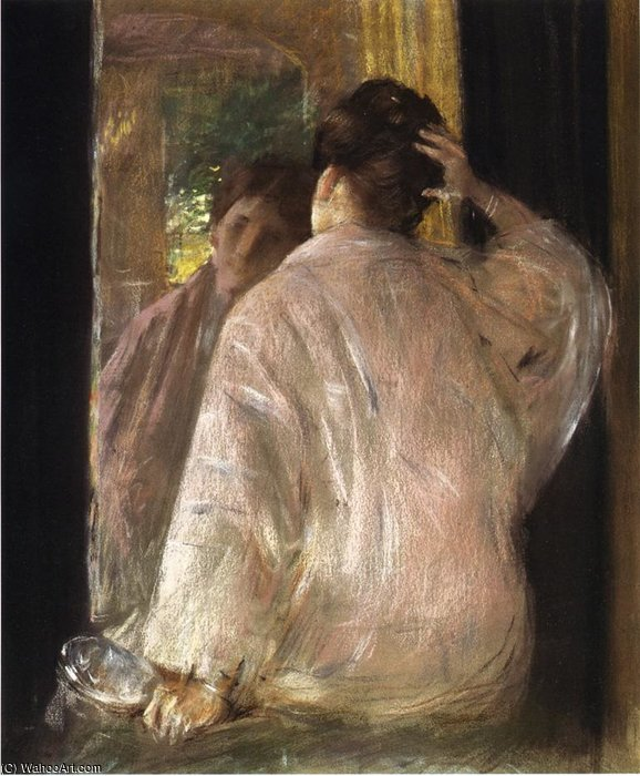 Dorothy (mirror) by William Merritt Chase (1849-1916, United States)