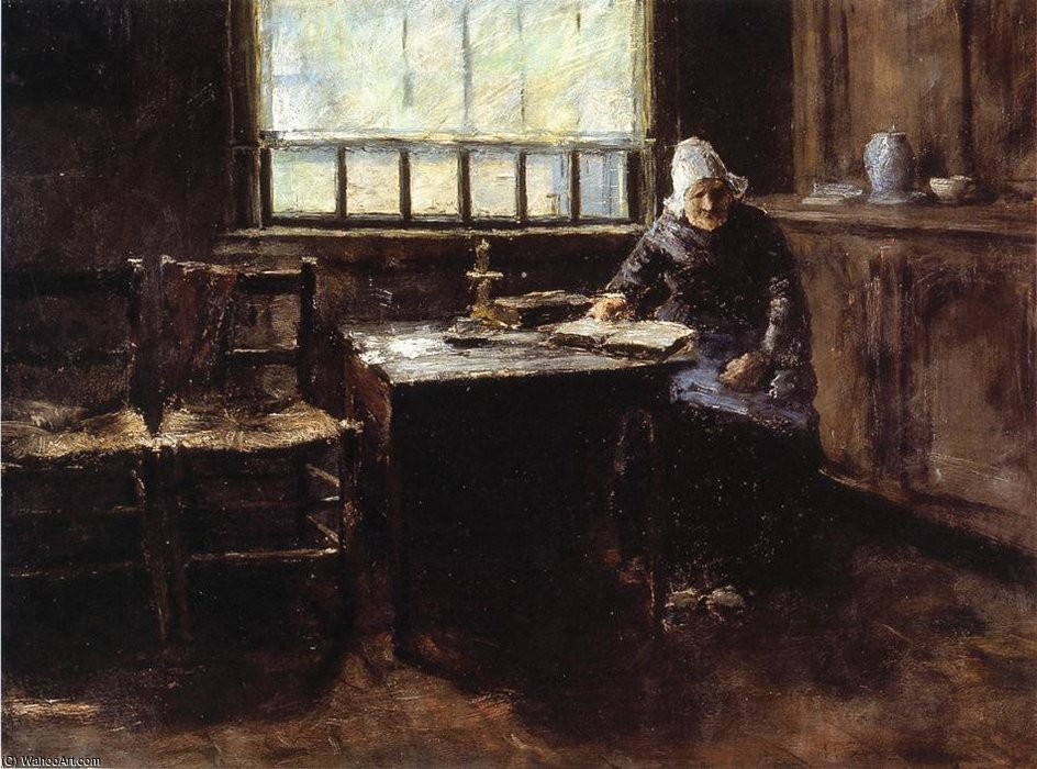 When One is Old aka The Old Cottager by William Merritt Chase (1849-1916, United States) | ArtsDot.com