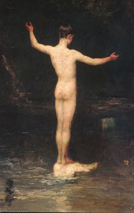 The bathers by William Morris Hunt (1824-1879, United States) | Museum Art Reproductions | ArtsDot.com