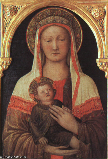 madonna and child, uffizi, 1450 by Jacopo Bellini (1396-1470, Italy) | Oil Painting | ArtsDot.com