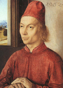 Dieric Bouts - Portrait of a Man, The Nationa..