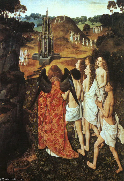 The Way to Paradise, oil on wood, Musée des B, 1450 by Dieric Bouts (1415-1475)