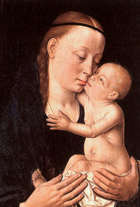 Dieric Bouts - Virgin and Child, tempera and ..