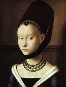 Petrus Christus - Portrait of a young woman, gemaldegalerie, staatlic