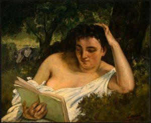 Gustave Courbet - A Young Woman Reading, NG Washington