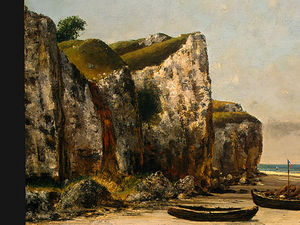 Gustave Courbet - Beach in Normandy, Detalj 1, NG Washingto