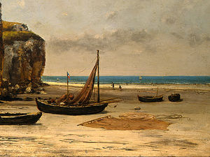 Gustave Courbet - Beach in Normandy, Detalj 2, NG Washingto