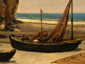 Gustave Courbet - Beach in Normandy, Detalj 3, NG Washingto