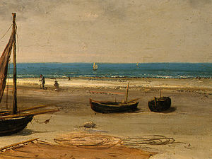 Gustave Courbet - Beach in Normandy, Detalj 4, NG Washingto