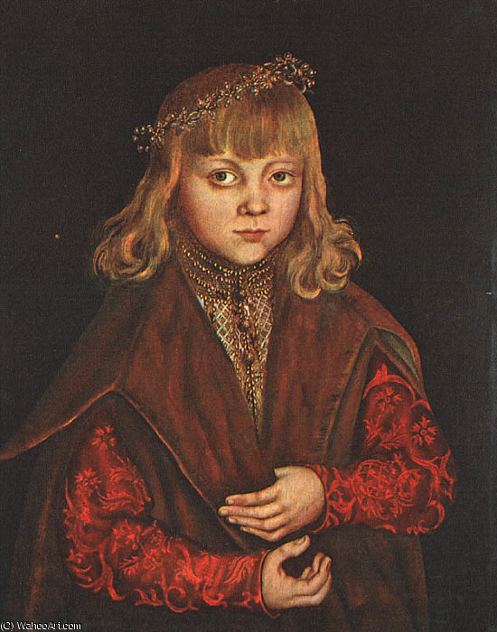 A Prince of Saxony, wood, National Galler, 1517 by Lucas Cranach The Elder (1472-1553, Germany)