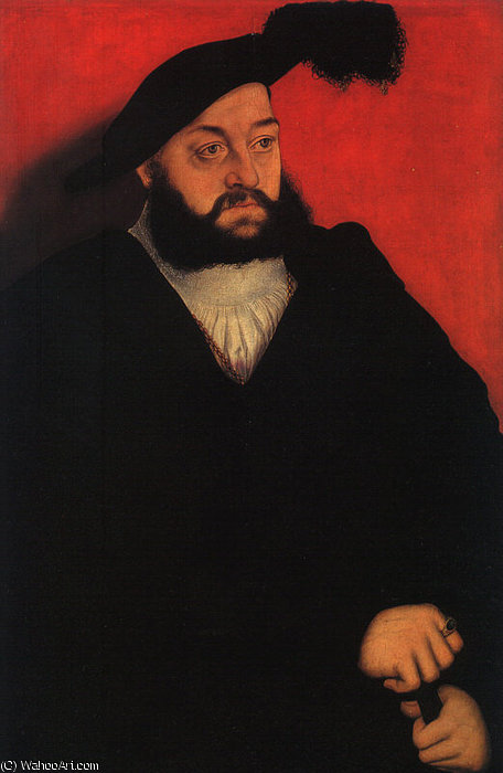 John, Duke of Saxony, tempera and oil on wood, by Lucas Cranach The Elder (1472-1553, Germany)