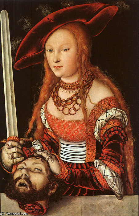 Judith with the Head of Holofernes, approx. - (153) by Lucas Cranach The Elder (1472-1553, Germany)