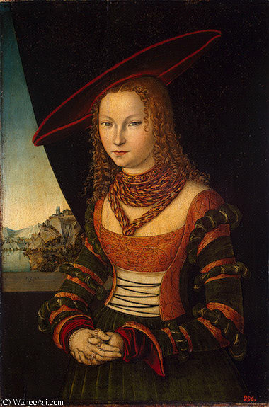 Portrait of a Woman, Eremit, 1526 by Lucas Cranach The Elder (1472-1553, Germany)