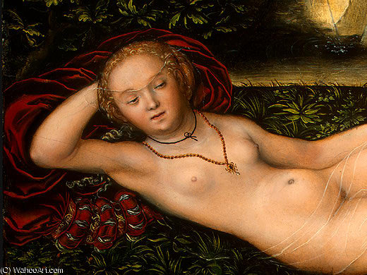 The Nymph of the Spring, after Detalj - (1,), 1537 by Lucas Cranach The Elder (1472-1553, Germany)