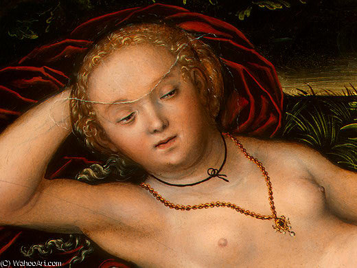 The Nymph of the Spring, after Detalj - (2,), 1537 by Lucas Cranach The Elder (1472-1553, Germany)