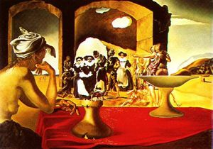 Salvador Dali - Dalí slave market with invisible bust of voltaire,1940