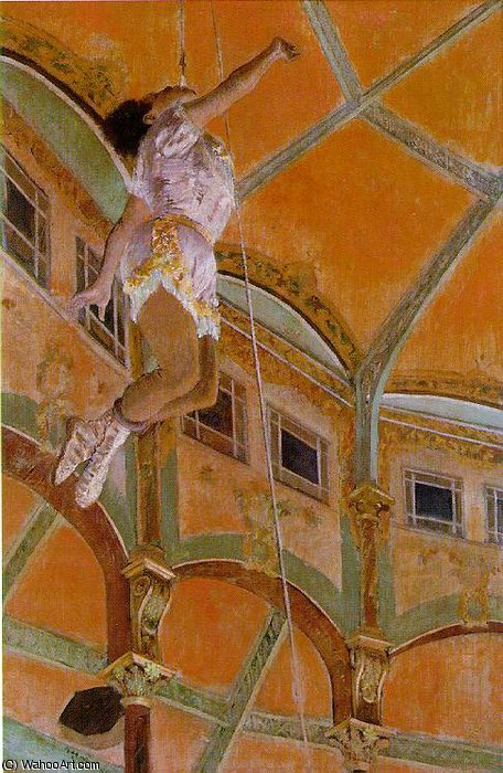 Miss Lola, au Cirque Fernando, NG L, 1879 by Edgar Degas (1834-1917, France) | Museum Art Reproductions | ArtsDot.com