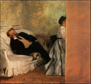 Edgar Degas - Mr and Mrs Manet ca Municipal Museum of Art, Kit