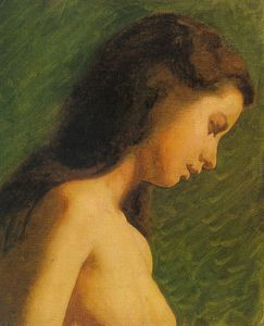 Thomas Eakins - Study of a Girl's Head, o..