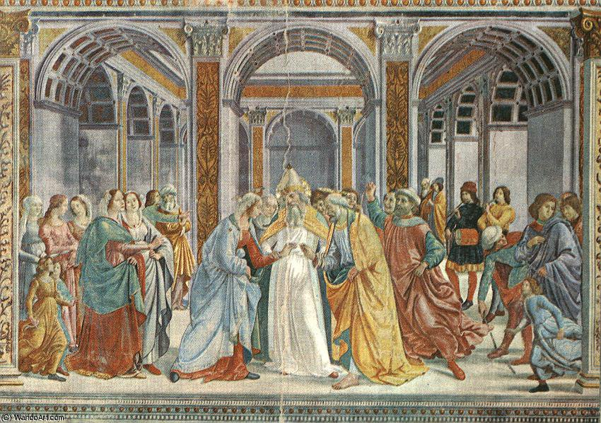 Marriage of the virgin, s.maria novella, florenc by Domenico Ghirlandaio (1449-1494, Italy)