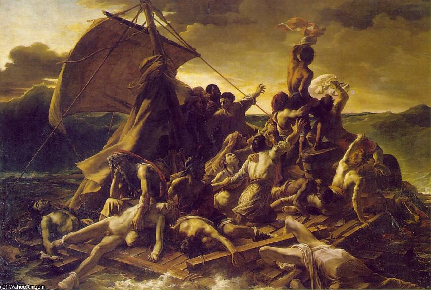 The Raft of the Medusa, Louvre, 1819 by Jean-Louis André Théodore Géricault (1791-1824, France)