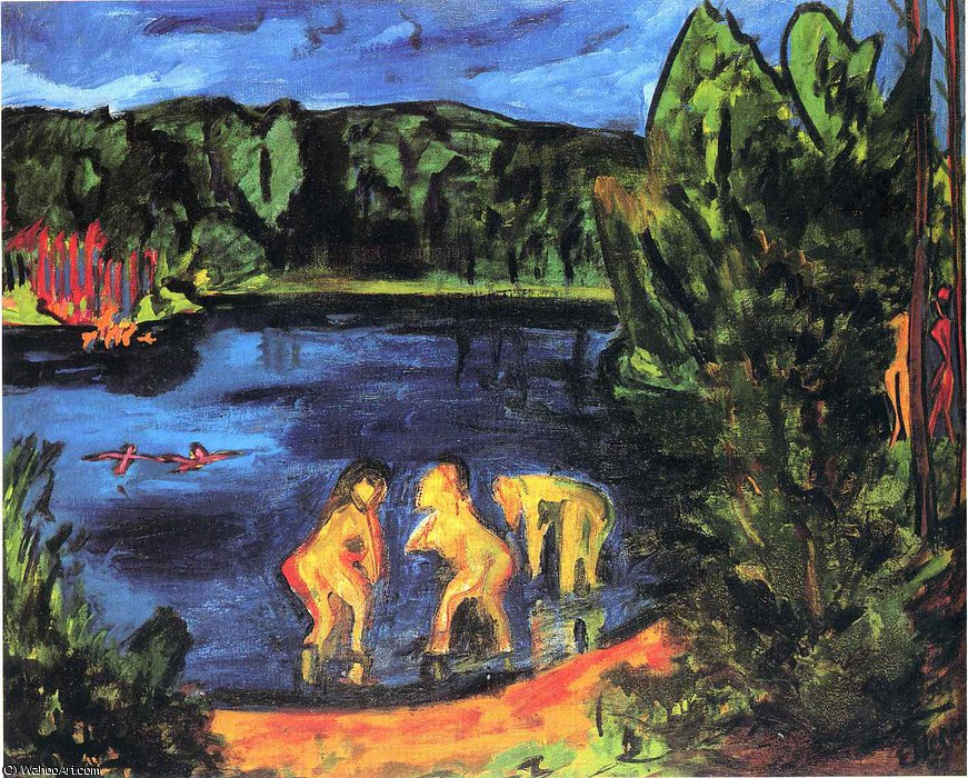 Untitled (956) by Erich Heckel (1883-1970, Germany) | Museum Art Reproductions | ArtsDot.com