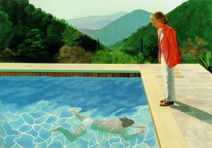 David Hockney - Pool 2 figures