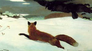 Winslow Homer - The fox hunt pensylvania academy of the fine arts
