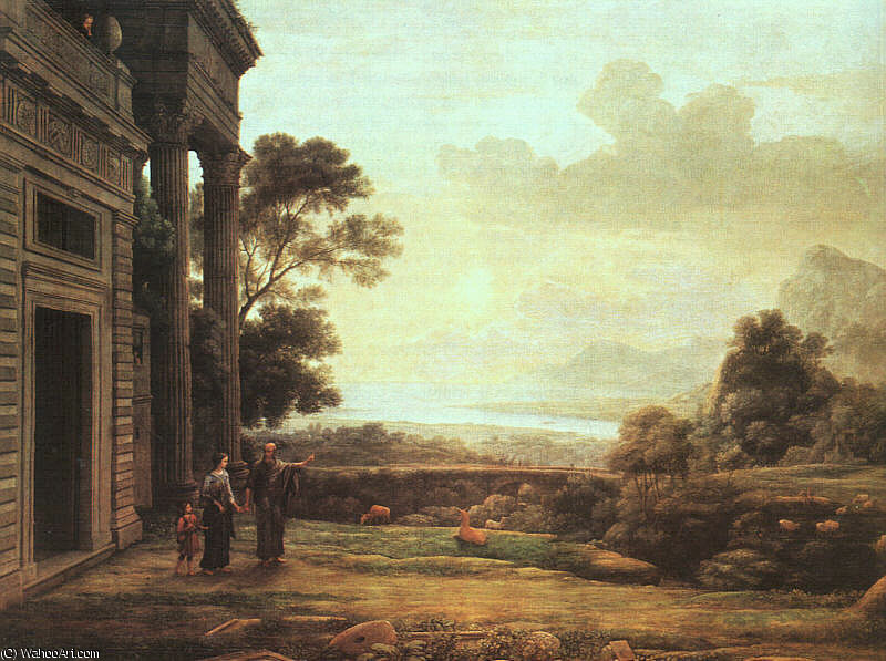 The Departure of Hagar and Ishmael, oil on can, 1668 by Claude Lorrain (Claude Gellée)