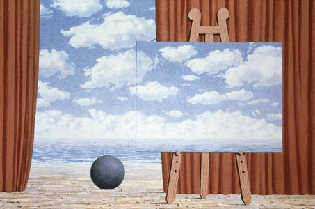 2 belle captive by Rene Magritte (1898-1967, Belgium)
